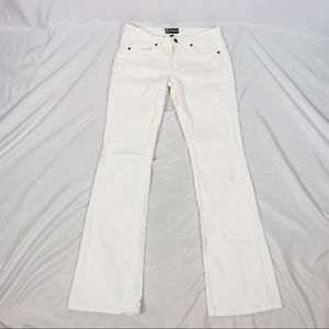 Anlo mid rise bootcut jeans solid white
